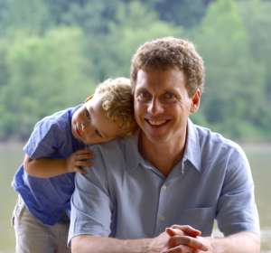 a child and his father